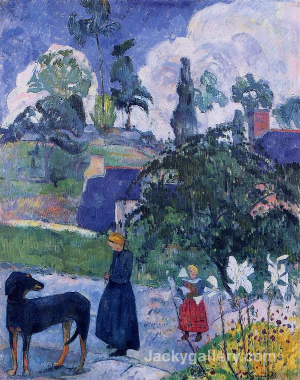 Among the Lillies by Paul Gauguin paintings reproduction