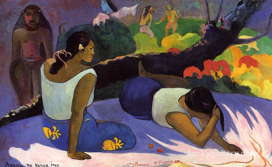 Arearea no varua ino by Paul Gauguin paintings reproduction