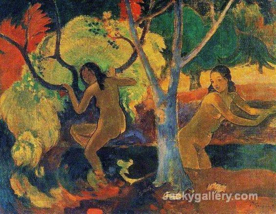 Bathers at Tahiti by Paul Gauguin paintings reproduction