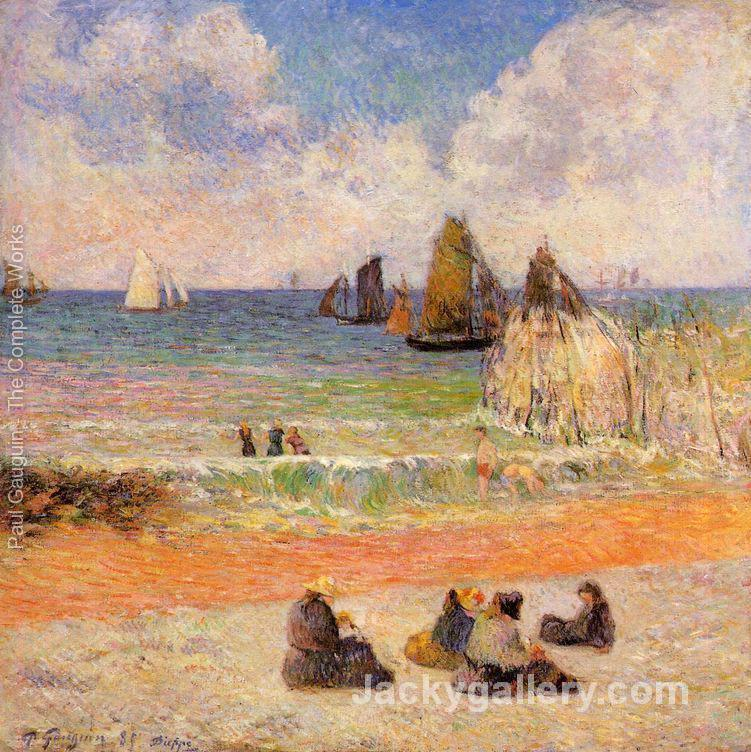Bathing Dieppe by Paul Gauguin paintings reproduction