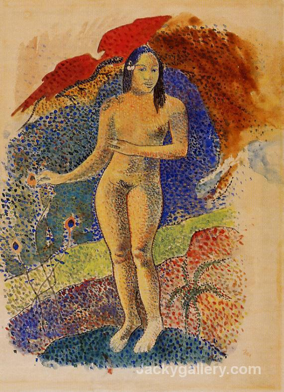 Beautiful Land, Tahitian Eve by Paul Gauguin paintings reproduction