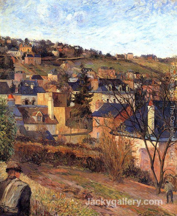 Blue Roofs Rouen by Paul Gauguin paintings reproduction