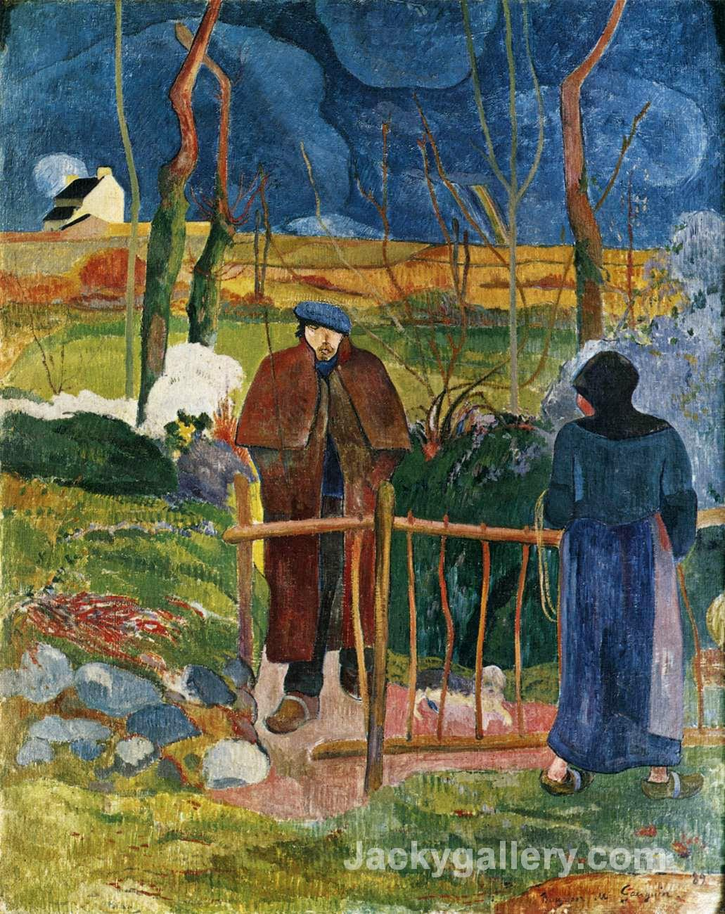 Bonjour Monsieur Gauguin by Paul Gauguin paintings reproduction