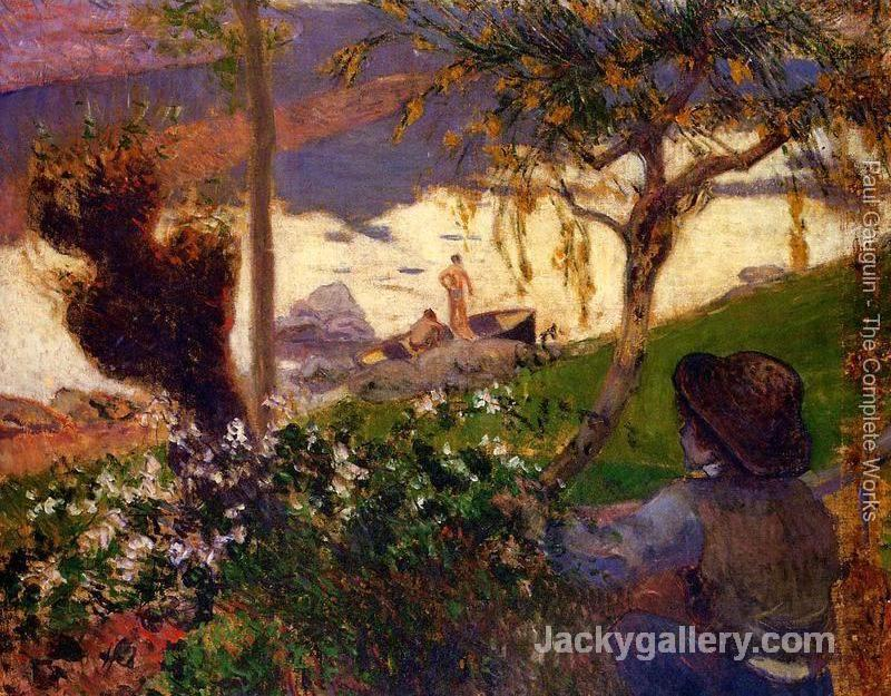 Breton Boy By The Aven River by Paul Gauguin paintings reproduction