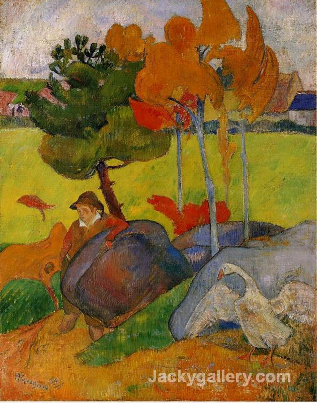 Breton Boy in a Landscape by Paul Gauguin paintings reproduction