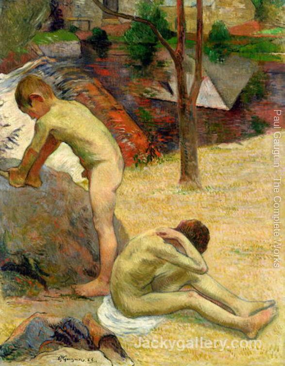 Breton Boys Bathing by Paul Gauguin paintings reproduction