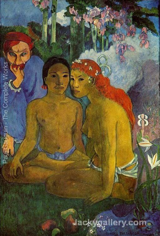 Contes Barbares Aka Primitive Tales by Paul Gauguin paintings reproduction