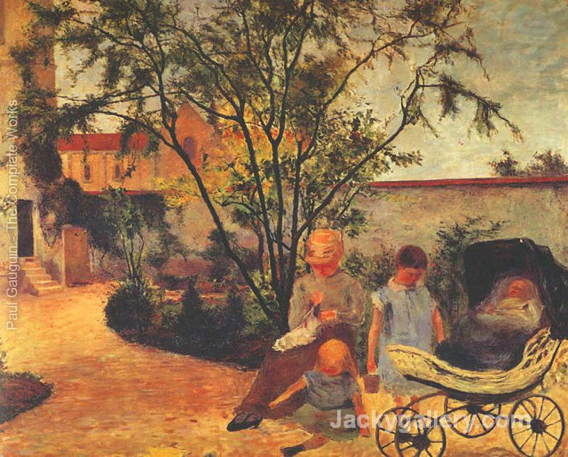 Family of the Artist in the Garden by Paul Gauguin paintings reproduction