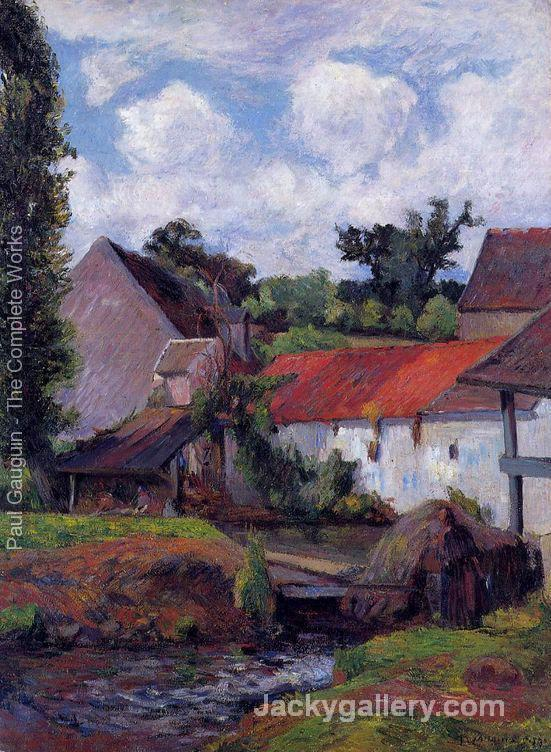Farm In Osny by Paul Gauguin paintings reproduction