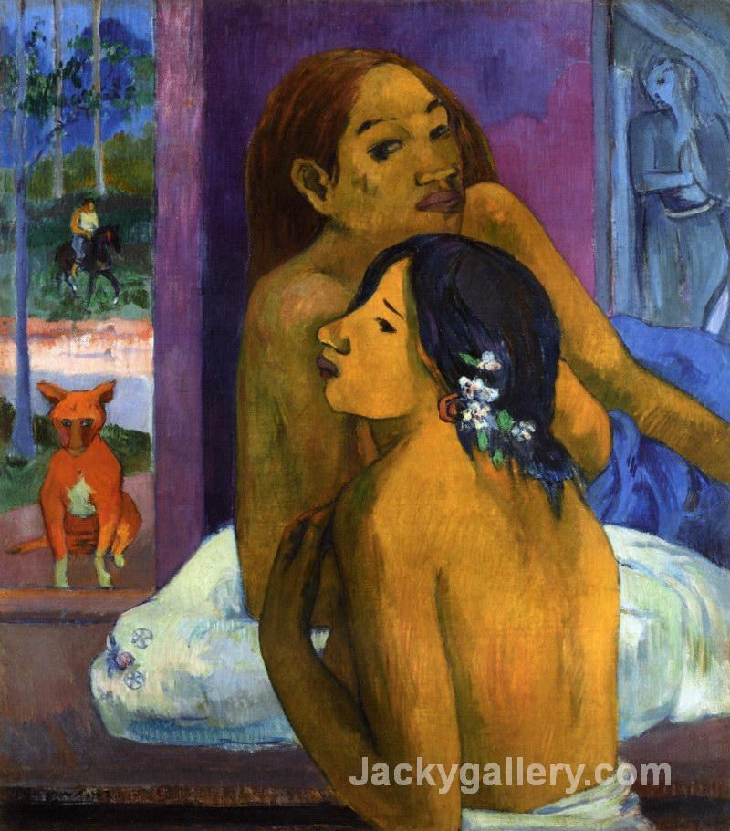 Flowered Hair by Paul Gauguin paintings reproduction