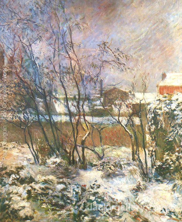 Garden in the Snow by Paul Gauguin paintings reproduction