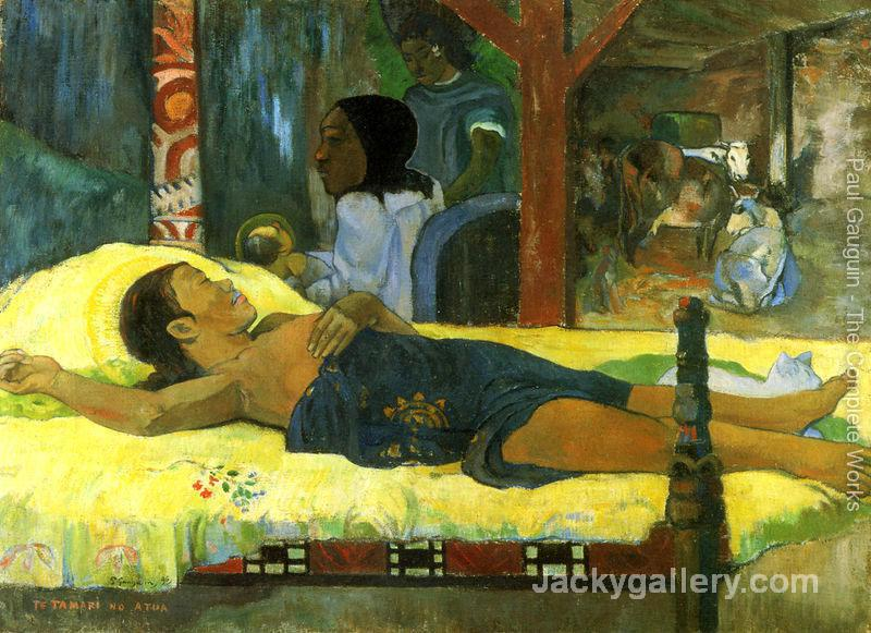 Geburt Christi, des Gottessohnes (Te tamari no atua) by Paul Gauguin paintings reproduction