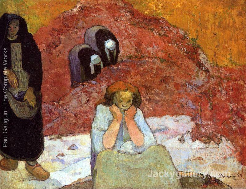 Grape Harvest In Arles Aka Human Misery by Paul Gauguin paintings reproduction
