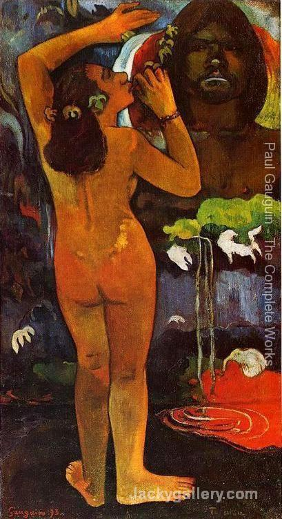 Hina Tefatou Aka The Moon And The Earth by Paul Gauguin paintings reproduction