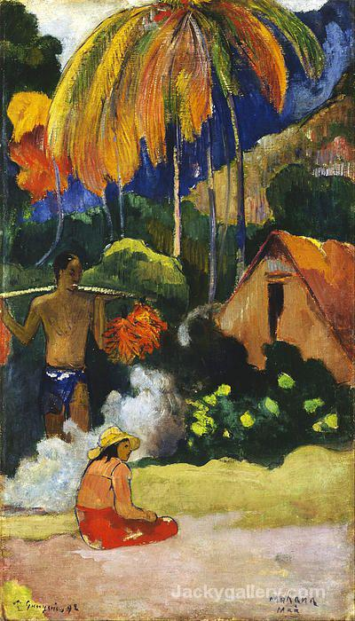 Landscape In Tahiti by Paul Gauguin paintings reproduction