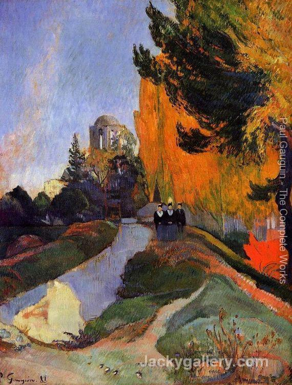 Les Alychamps by Paul Gauguin paintings reproduction
