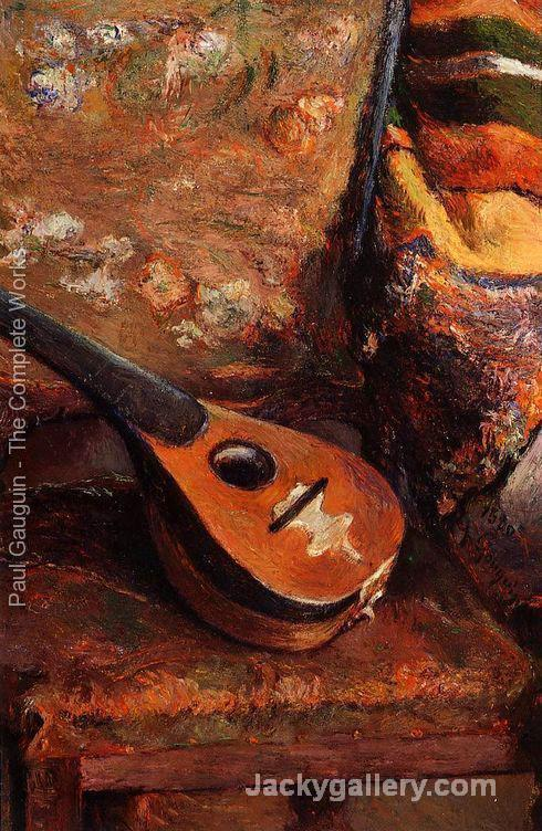 Mandolin On A Chair by Paul Gauguin paintings reproduction