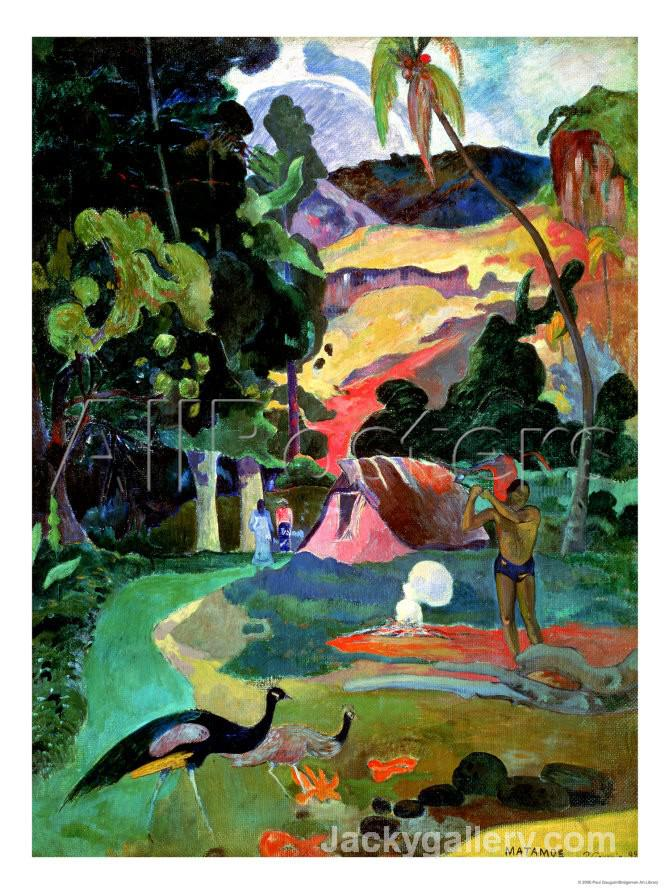 Matamoe Or, Landscape with Peacocks by Paul Gauguin paintings reproduction