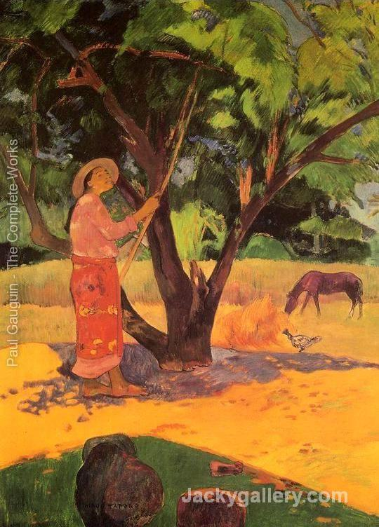 Mau Taporo Aka The Lemon Picker by Paul Gauguin paintings reproduction