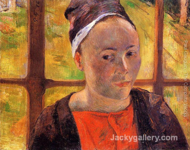 Portrait Of A Woman by Paul Gauguin paintings reproduction