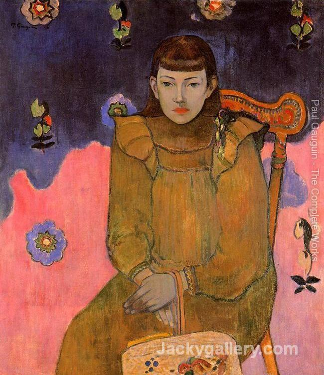 Portrait Of A Young Woman Vaite (Jeanne) Goupil by Paul Gauguin paintings reproduction