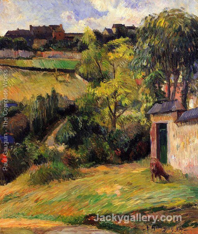 Rouen Suburb by Paul Gauguin paintings reproduction