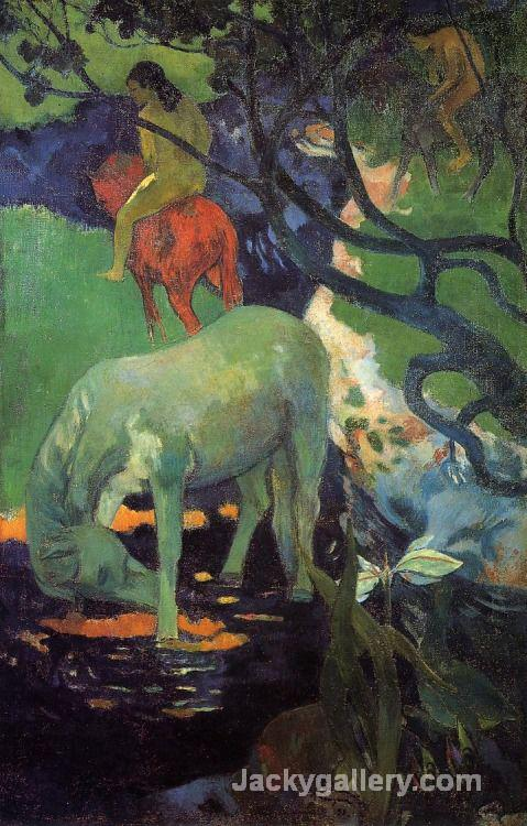 The White Horse by Paul Gauguin paintings reproduction