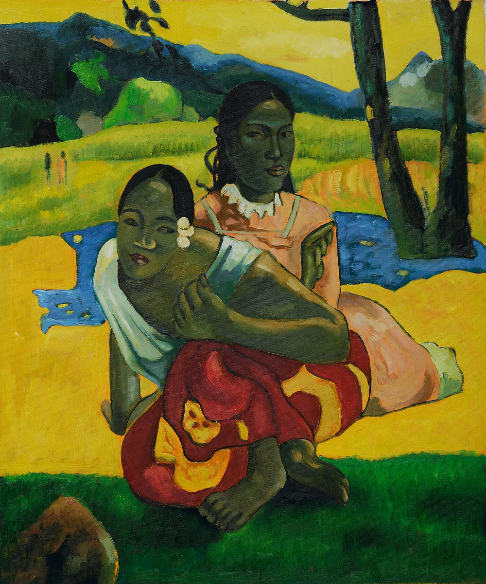 """When Will you Marry?"" (full view) by Paul Gauguin"