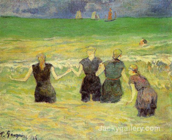 Women Bathing by Paul Gauguin paintings reproduction
