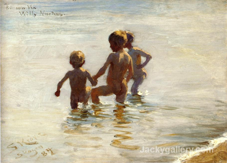 A Summers Day at Skagen South Beach by Peder Severin Kroyer paintings reproduction