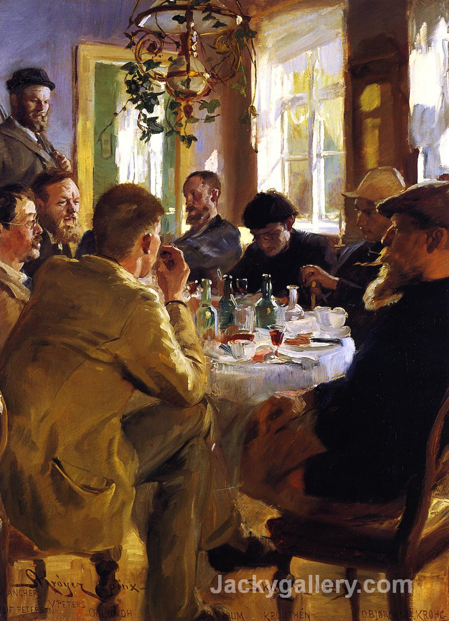 Artists Luncheon in Skagen by Peder Severin Kroyer paintings reproduction