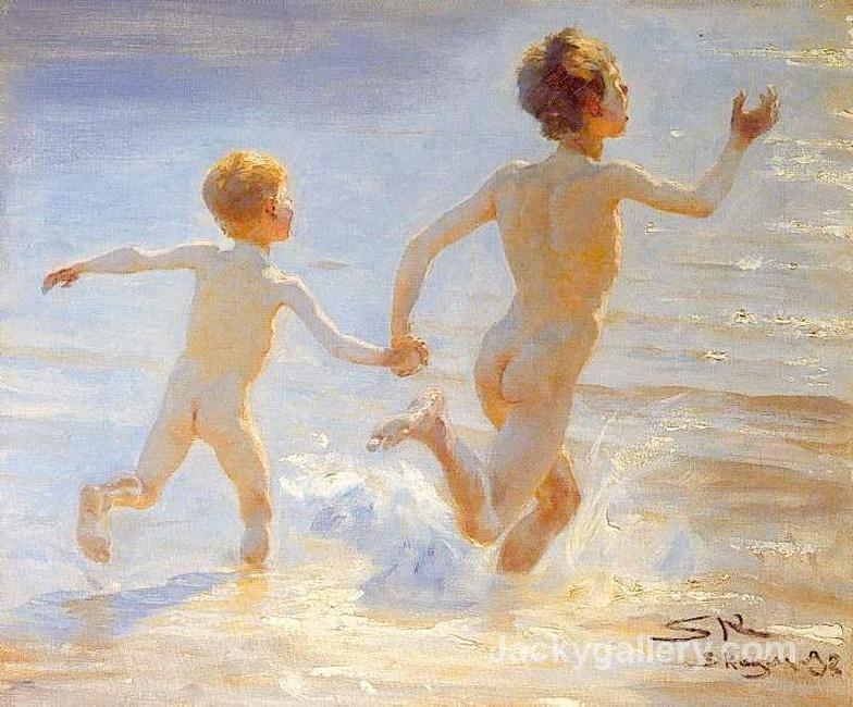 Beach of Skagen by Peder Severin Kroyer paintings reproduction