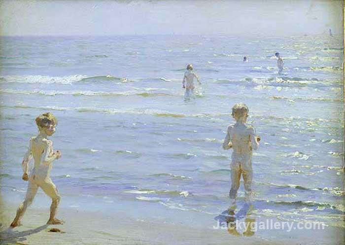 Boys Bathing by Peder Severin Kroyer paintings reproduction