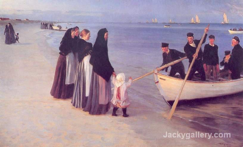 Fishermen at Skagen by Peder Severin Kroyer paintings reproduction