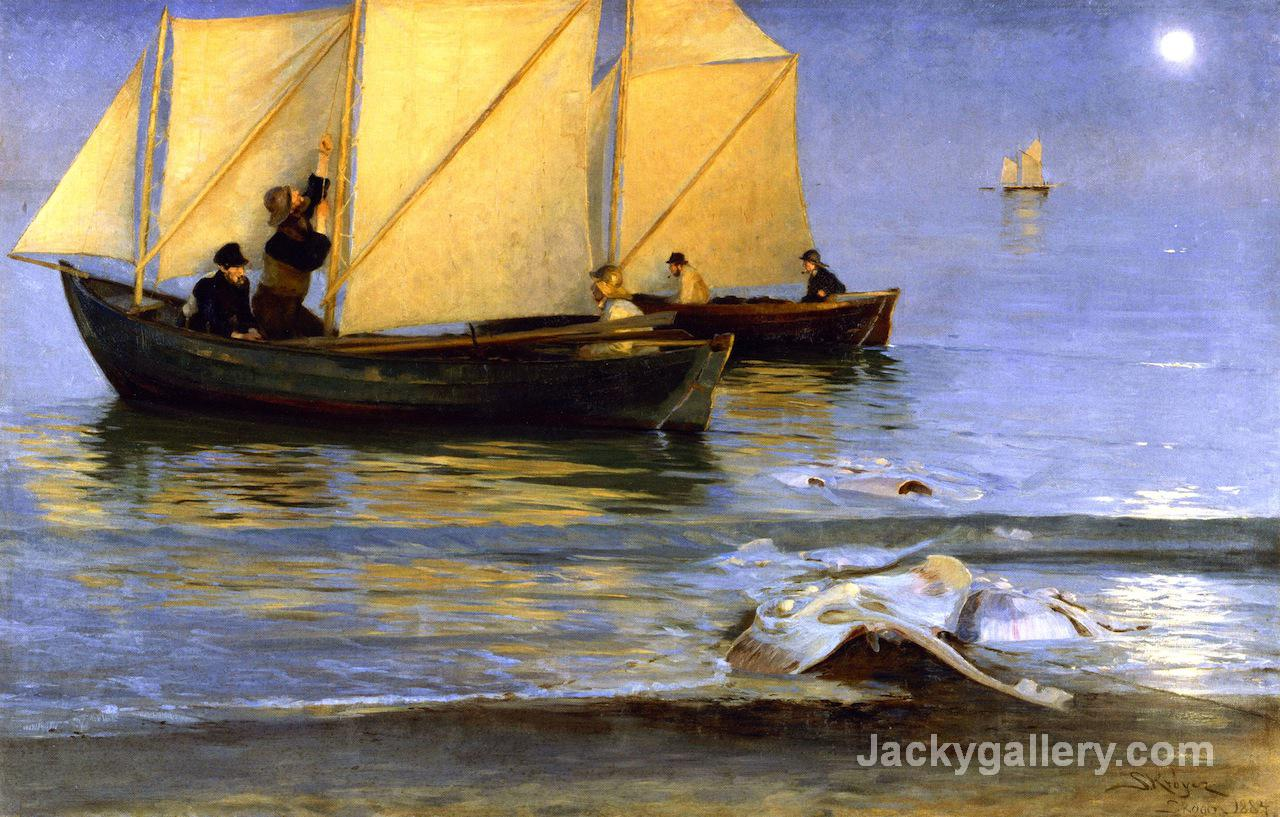 Fishing Boats by Peder Severin Kroyer paintings reproduction