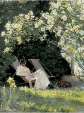 Havepartie Med Marie Kroyer By Peder Severin Kroyer