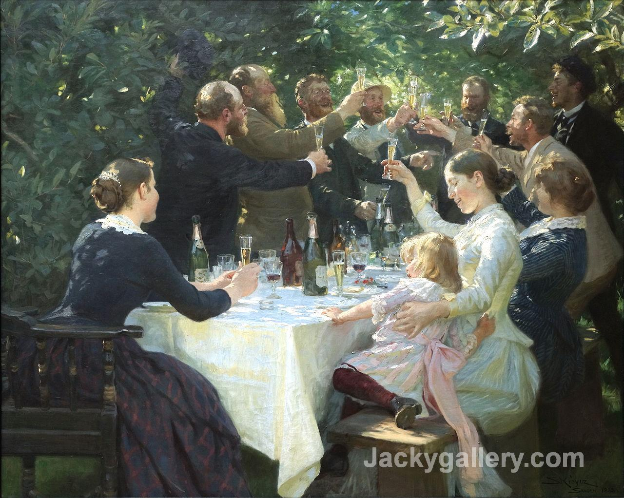 Hip, Hip, Hurrah by Peder Severin Kroyer paintings reproduction
