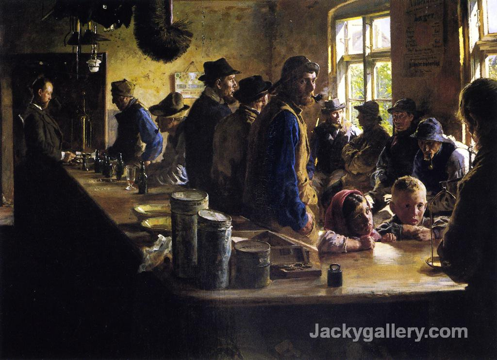 In the Store During a Pause from Fishing by Peder Severin Kroyer paintings reproduction