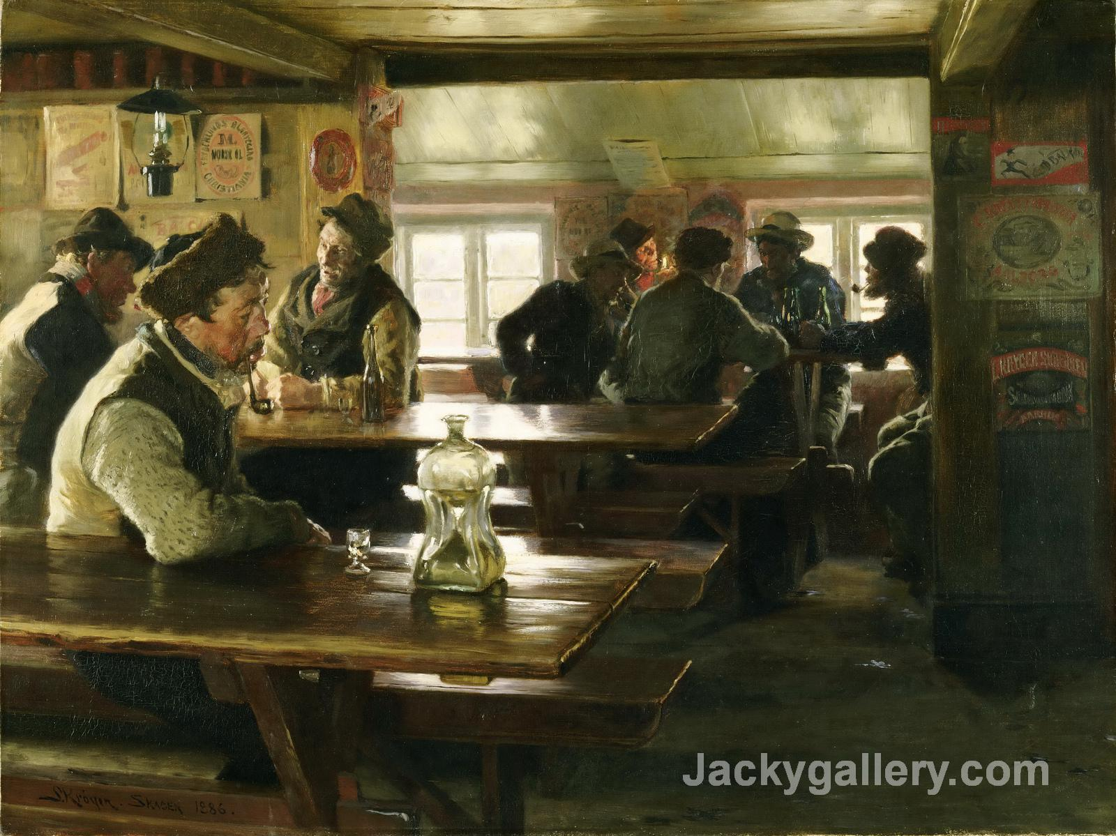 Interior of a Tavern by Peder Severin Kroyer paintings reproduction