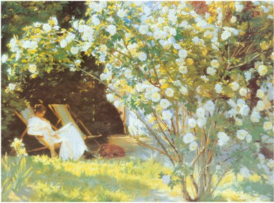 Les Roses By Peder Severin Kroyer