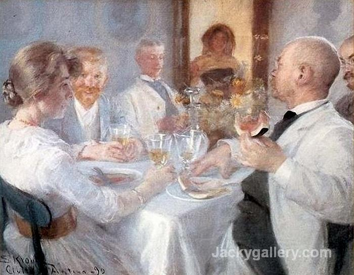 Luncheon at Antino by Peder Severin Kroyer paintings reproduction