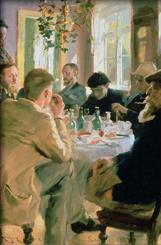 Lunchtime, 1883 By Peder Severin Kroyer