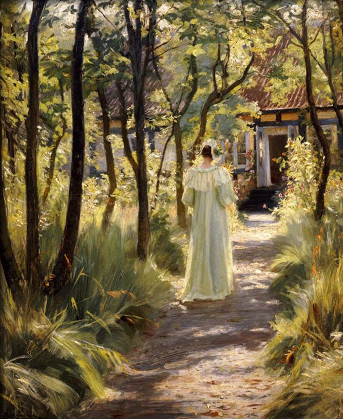 Marie in the Garden, 1895 By Peder Severin Kroyer