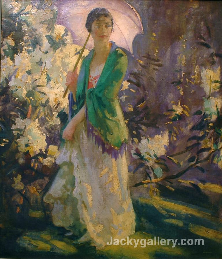 Marie in the Garden by Peder Severin Kroyer paintings reproduction
