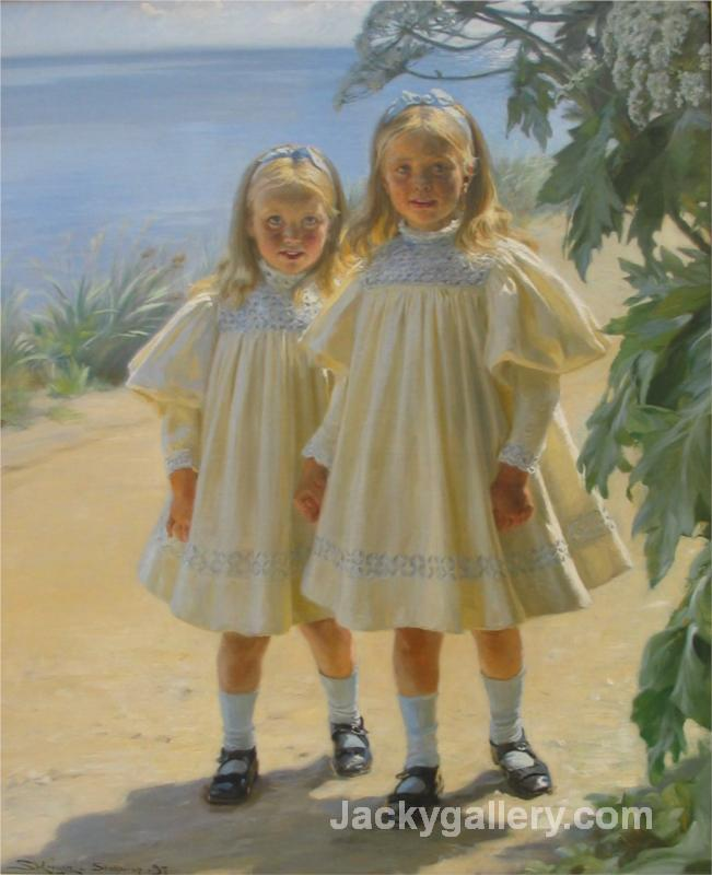 The Benzon daughters by Peder Severin Kroyer paintings reproduction