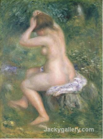 A Bather c by Pierre Auguste Renoir paintings reproduction