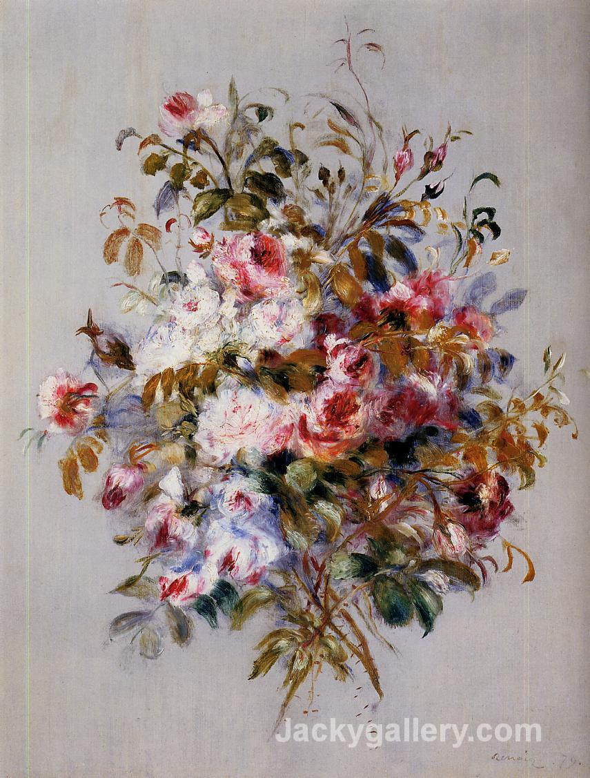 A Bouquet of Roses by Pierre Auguste Renoir paintings reproduction
