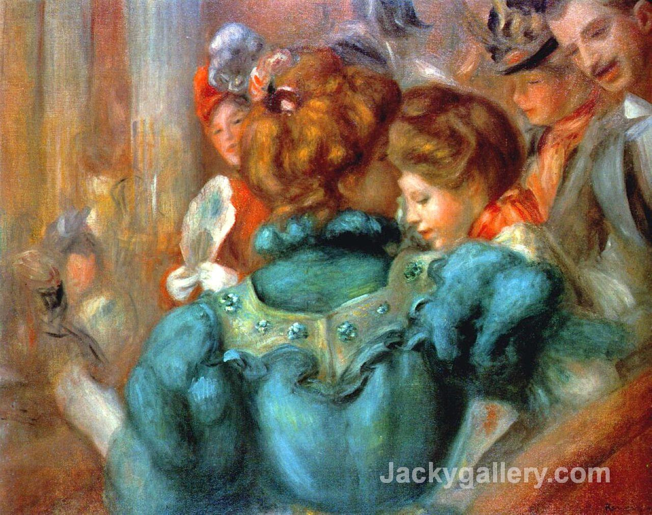 A Box in the Theater des Varietes by Pierre Auguste Renoir paintings reproduction