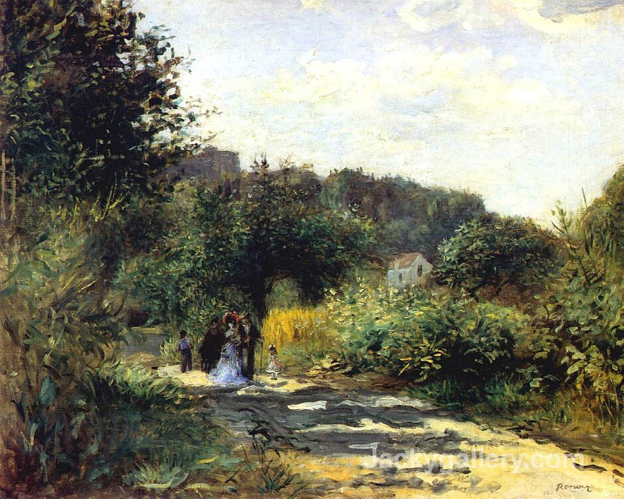 A Road in Louveciennes by Pierre Auguste Renoir paintings reproduction