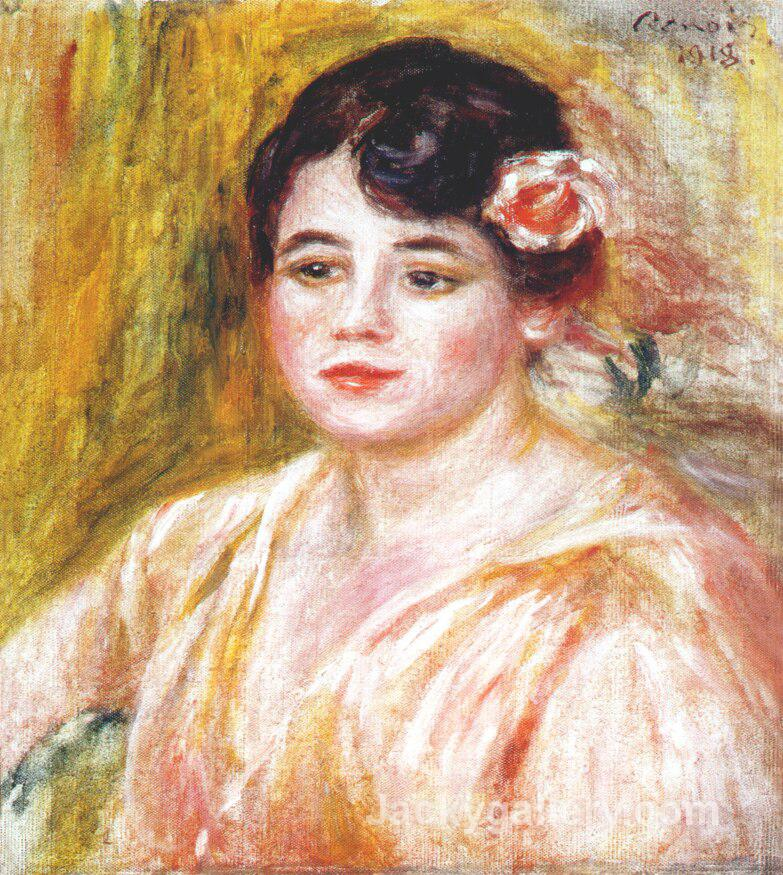 Adele besson by Pierre Auguste Renoir paintings reproduction